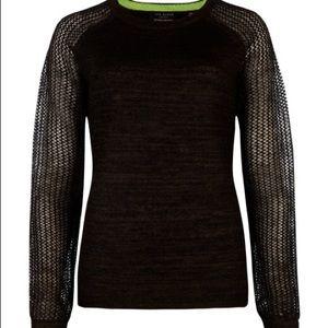 Ted Baker Metallic Mohair Sweater Sz 2